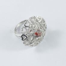 Top Sale Platinum Plated Elegant Ring , Men's Silver Rings
