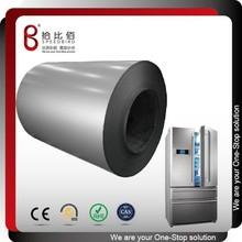 Coated steel metal refrigerator plate