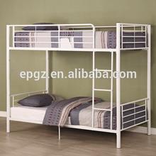 Forjado de hierro doble cama. King Size de hierro forjado y cama de madera maciza