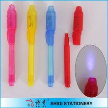 Multi- couleur magic styloinvisible uv détecteur d'argent stylo