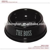 Import china products eco ceramic black pet bowl with logo