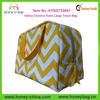 Extra Large Travel Bag Yellow Chevron Toiletry Bag