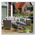 Audu aluminio ratán marca de fábrica famosa muebles de jardín