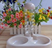 Pet Supplies Practical Pet Leakproof Drinker Pet Water Bowl With Food Bowl