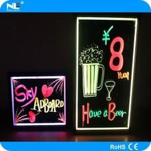 Magic visual effect LED outdoor erasable advertising writing glow board