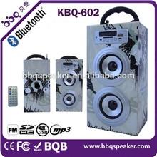 Outdoor radio retro BT rectangular Woofer Wireless Speaker For travelling