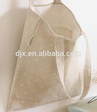 Plain Canvas Fabric Small Daisies Printing Tote Shopping Bag