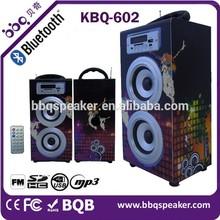 retro Bluetooth wooden Black Woofer speaker long Range 10W Back hole Wireless woofer Speaker
