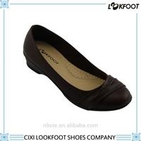 Hot sale new design pu simple style low heel women dress shoe