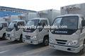 De múltiples funciones recubierto de camiones refrigerados cuerpo con el certificado del CE