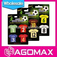 Wholesale Soccer Star T- Shirt microfiber sticker cellphone cleaner