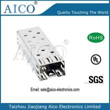 single port press fit 1x1 sfp module cage connector
