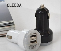 Universal Mini 5V3.1A Dual USB car charger with CE,FCC,ROHS California65
