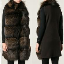 2015 fashion designer manufacturer in China cheap fox fur vest
