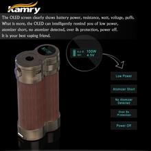 Newest vaporizer pen kamry 100 watt wood e-cig mods china