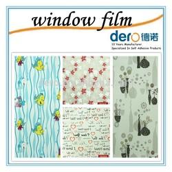 Hot sale window sticker with fashion carton fish pattern