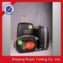 2015 high quality best price travel ABS luggage with retractable wheels in china
