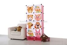 PP material Cube DIY cheap discount wardrobe closet storage with cartoon doors