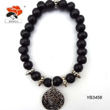 newest healing handcrafted yoga stacking wood bead stretch energy bracelet jewelry