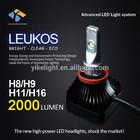 Auto led car ring light , 12V 24V 2000lm LED Car Head Light, H11 LED Emark Certificates