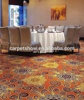 Floral design commercial printed carpet tiles