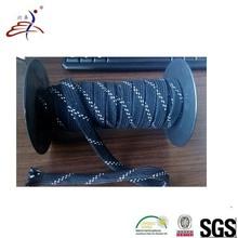 black braided hockey skate lace