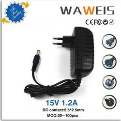 AC adapter 15v 1.2a for LED strip light,CCTV camera