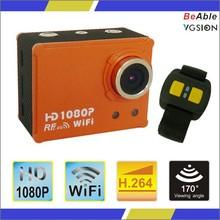 Wrist remote controller170 degree 50M underwater original sjcam AT200 Wifi sport camera