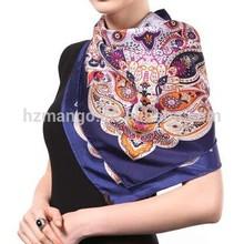 Hot sale digital print custom design silk scarf