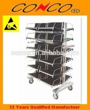 hanging basket type trolley esd circulation cart
