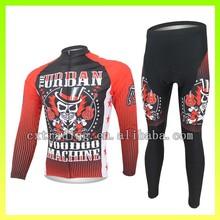 Sublimation Red Devil Design Sportswear Polyester Lycra Cycling Jersey