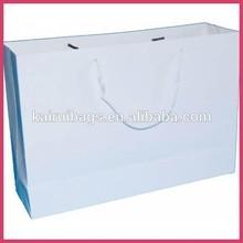 high quality company logo print white garment bag