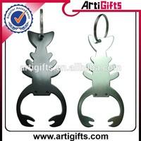 China factory supply cheap scorpion shape bottle opener keychain