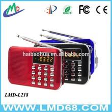 Built-In Speaker Flashlight and Portable Home Radio fm portable radio L-218