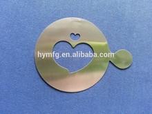 heart shape metal coffee stencils