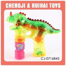2014 hot selling new dinosaur plastic electric soap bubble gun toy set
