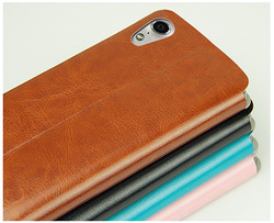 High-end flip mobile phone leather case folio cellphone cover for S960 vibe x case