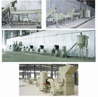 PET plastic bottle crushing washing and recycling line