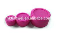 FDA standard high quality silicone 24oz glass jar