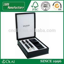 High quality deluxe leather pen box elegant black pen box