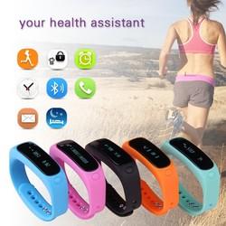 2015 new fashion health assistant IP67 waterproof 180 days standby E02 bluetooth bracelet, smart bracelet watch