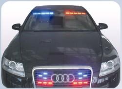 Police car light visor/grille strobe light and lightbar