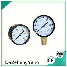 Alibaba China 0-100 Psi 7 Bar Pneumatic Compressed Air Pressure Gauge