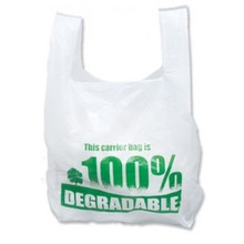 Bio-degradable Plastic Bag Custom Printed Environmentally Friendly Plastic Bag