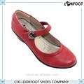 de calidad superior de color rojo de la moda de gran tamaño de tacón alto vestido de las mujeres de zapatos