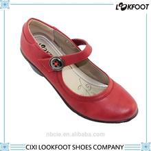 Top quality red color fashion big size high heel women dress shoe