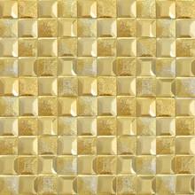 Golden color mosaic tile mirror glass house decorations hot sale