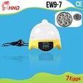 2015 natal melhor qualidade automática mini 7 ovo incubadora do ovo automático