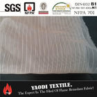 Cheap 100 polyester fire retardant sheer fabric for curtains