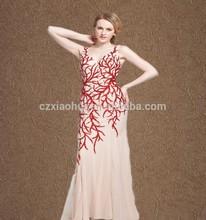 2015 factory glamorous unique elegant floor length Hand Glue beaded Mesh Dresses Evening Dress